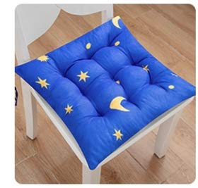 MIYY Chair Cushion Seat Seat Home Office Bench Cushion Thickening Student Soft Butt Pad Floor Summer Breathable 40 * 40Cm Stars Blue - Blue Chair Pad