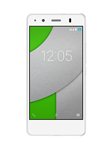 BQ Aquaris A4.5 - Smartphone de 4.5'' (WiFi, Bluetooth, 16 GB de memoria interna, 1 GB de RAM, Android 5.1.1 Lollipop), color blanco