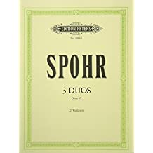 3 DUOS OP 67 - arrangiert für zwei Violinen [Noten / Sheetmusic] Komponist: SPOHR LOUIS