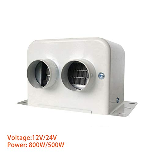 WDY - Calefactor para Coche de 12 V, con Mini calefacción, 500 W, con termostato, humidificador (Blanco, 18 x 11 x 13 cm)