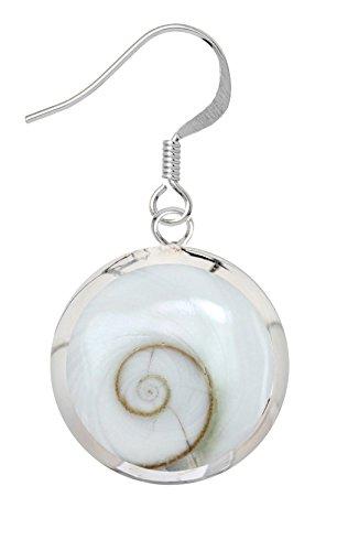 Orecchino d''argento/ciondolo con coperture della lumaca bianca Disponibile in impostato da Shalalla Londra, Argento, colore: weiss Muschel Ohrring, cod. S039-EAR-WH-SH
