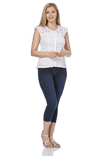 Roman originals camicia - tunica - floreale - classico - maniche corte - donna white 44