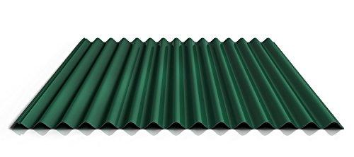 Wellblech | Profilblech | Dachblech | Profil PA18/1064CRA | Material Aluminium | Stärke 0,70 mm | Beschichtung 25 µm | Farbe Nadelgrün