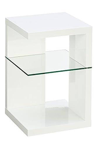 Beistelltisch / Nachttisch Domingo, 40x60x40cm, weiß