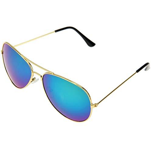 WARM home Wunderschönen UV400 UV-Schutzrahmen AC-Objektiv Froschspiegel Brillen Sonnenbrillen, Metall Geschenk (Artikelnummer : S-OG-1411G)