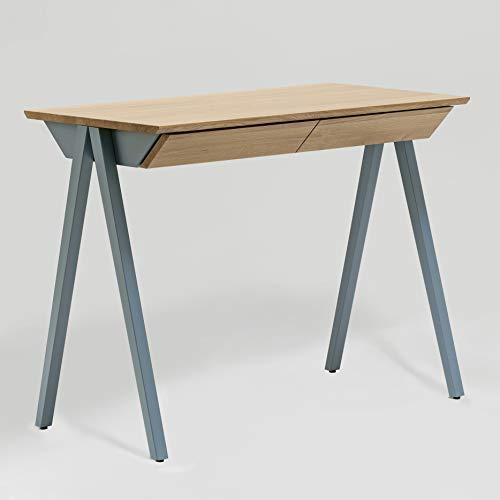 borcas® Vogel Schreibtisch himmelblau mit Schubladen, Made