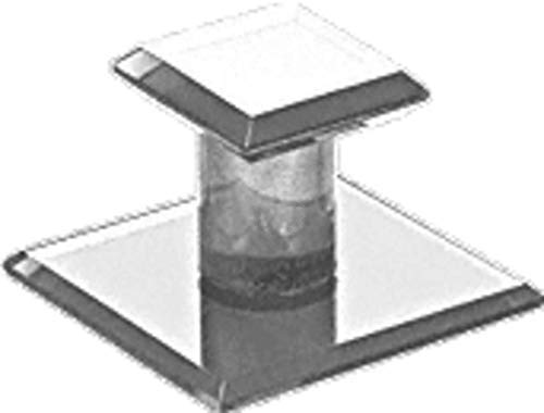 Clear Acrylic Stick-On Mirror Knob - 1-3/4 Square -