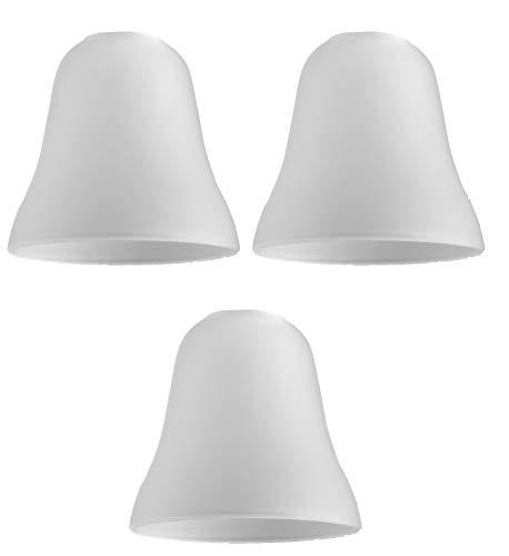 MiniSun - Set de 3 tulipas de repuesto para lámpara, de cristal satinado y forma de campana