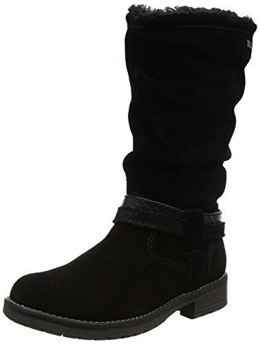 Lurchi Mädchen Lia-Tex Stiefel, Schwarz (Black), 36 (Schwarz Mädchen Stiefel)