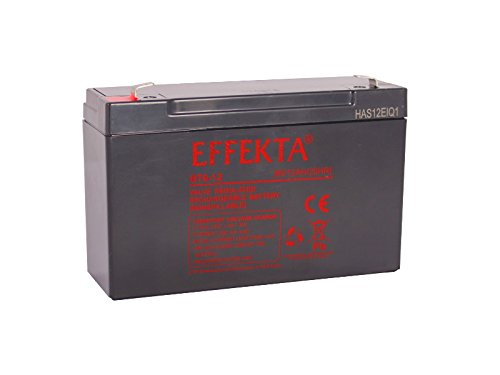 Effekta AGM Akku Batterie Typ BT 6-12   6V 12Ah  Anschluß 6,3mm