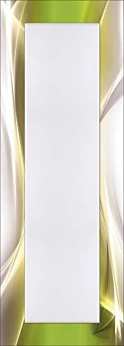 Artland Qualitätsspiegel I Spiegel Wandspiegel Deko Rahmen mit Motiv 50 x 140 cm Abstrakte Motive Gegenstandslos Digitale Kunst Grün G5RT Kreatives Element Grün für Ihr Art-Design