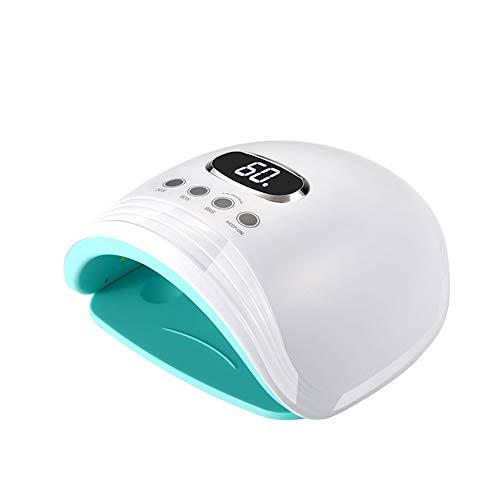 ⛪Rotes Licht Weißes Licht Schnell Trocknende UV Lampe Mit Sensor 60 Watt LED Nagel Lampe Trockner Maniküre 24/6 PCS Lampe Trockner Cure Gel Polish MJD415 (Farbe : A) - Gel-polish Uv-trockner