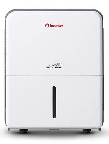 Inventor Power WiFi, 25L/Jour Déshumidificateur d'air, Absorbeur d'Humidité Portable-roulettes Pivotantes, Déshumidification Continue, Technologie Intelligente WiFi, Hygrostat Intégré