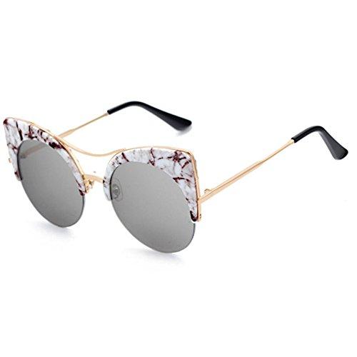 BiuTeFang Männer und Frauen Sonnenbrille europäisch-Amerikanischen Katzenauge Reflektierenden Sonnenbrille Straße Shot Gläser