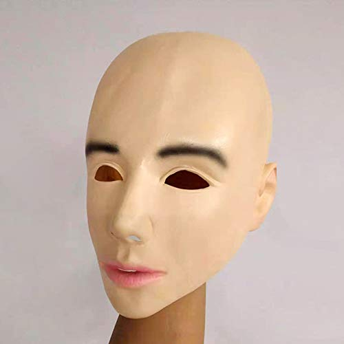 XIAO RUI Latex Maske Halloween Perücken Schönheit Perücken kreative Masken Glatze Schönheit Perücken lustige Rollenspiele Requisiten Masken, Erwachsene (Beste Kreative Halloween Kostüme 2019)