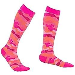 JuanYa 1 par de calcetines de compresión para hombre o mujer, para correr, viajes, enfermeras, ciclismo, deportes cálidos