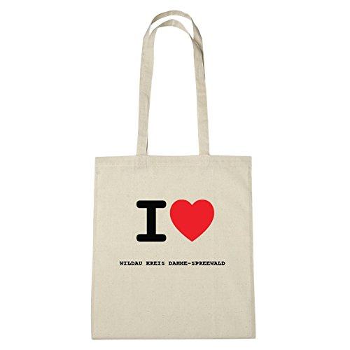 JOllify Wildau per Dahme circolare DAHME-SPREEWALD di cotone felpato b2445 schwarz: New York, London, Paris, Tokyo natur: I love - Ich liebe