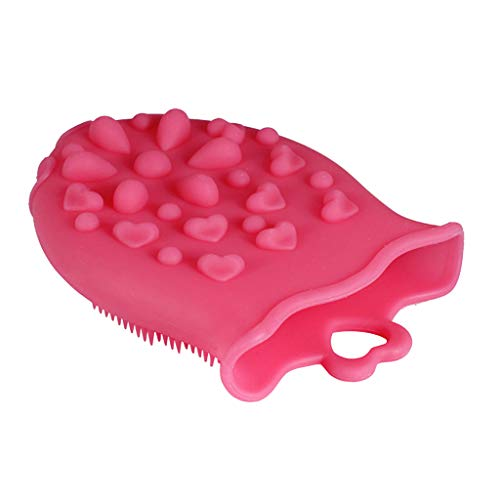 F Fityle Silikon Schwamm, Antibakteriell Silikonschwamm Reinigungs Bürste - rot -