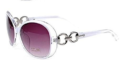 M2-Weiß-Sonnenbrille-Frauen-Big Retro Vintage polarisierte UV400