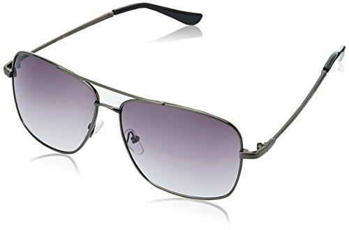 LOUIS SMIT UV Protected Rectangular Men\'s Sunglasses - (LS106 C2|60|Grey Gradel Color)