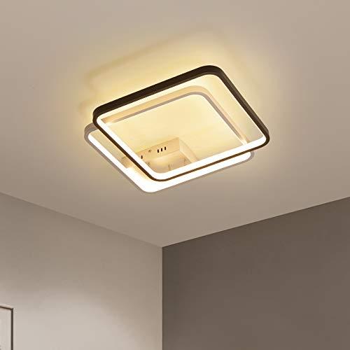 420x420mm moderne led kronleuchter schlafzimmer studie wohnzimmer weiß + schwarz dekoration decke kronleuchter lampen