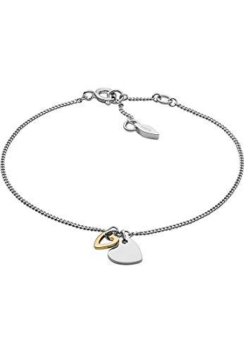 Fossil Damen-Kettenarmband 925 Sterlingsilber JFS00455998
