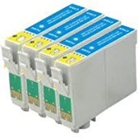 King OF Flash Epson Compatible T1292 4 x T1292 - Cyan Ink Cartridge for Epson Stylus Office Printers