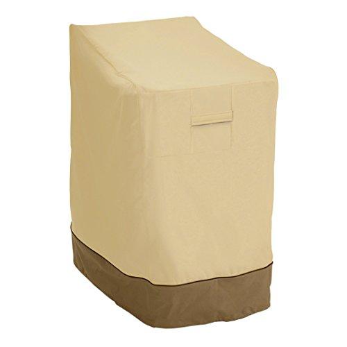 Classic Accessories Veranda Haltbare Möbelabdeckung für stapelbare und gestapelte Gartenstühle -