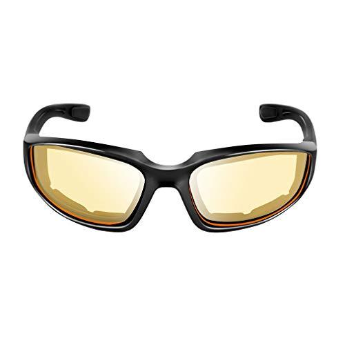 GreatWall Motorradbrille Winddicht Staubdicht Brillen Outdoorbrille gelb