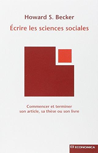 Ecrire les sciences sociales