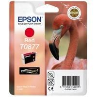 Epson T0877 Cartouche d'encre d'origine UltraChrome Hi-Gloss2 Rouge