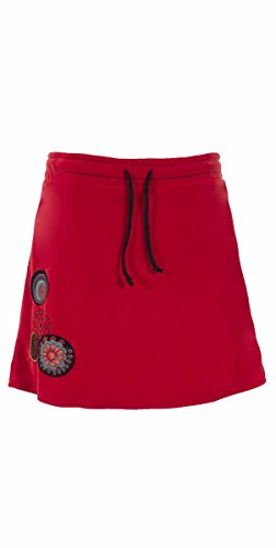 Coline - Jupe courte velours Rouge