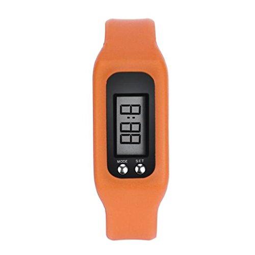 DRESS_start fitness tracker-digital lcd schrittzähler run schritt walking distance kalorienzähler uh DRESS_start (Orange)