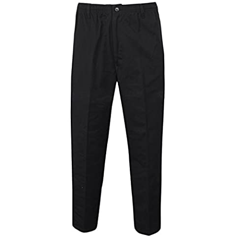 MENS RUGBY TROUSERS FULL ELASTICATED WAIST CASUAL SMART POCKET PANTS PLUS BIG SIZES