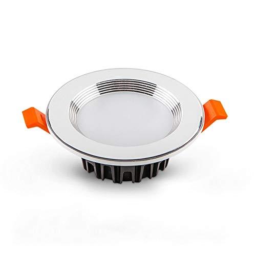 HYX LED Downlight Beleuchtung 5W 75mm Directional Retrofit Deckeneinbau Kann Lichtleiste Warmweiß 3000K-3200K Halogenlampen -
