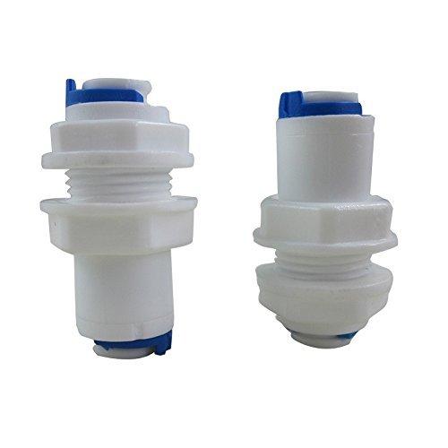 Filtration Unit (tmalltech 1/10,2cm Zoll weiß Spritzwand Beschläge Stecker Tube Quick Connect für RO Unit (2Stück))