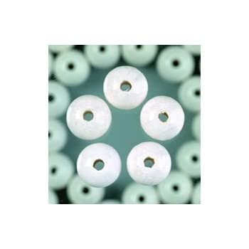 EFCO 1401001 12 mm 30-Piece Wooden Beads Hole White