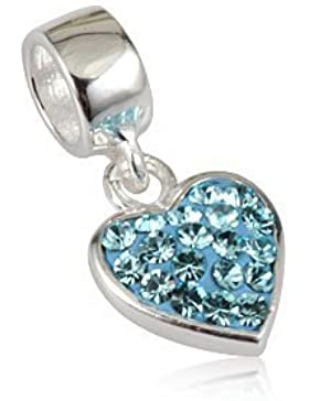Andante-Stones 925 Sterling Silber Dangle Bead Charm