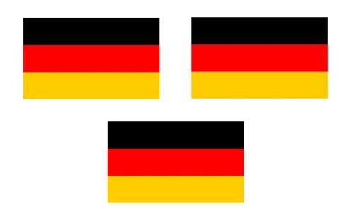 Preisvergleich Produktbild 3 x Mini Aufkleber Fahne von Deutschland ohne Wappen Flaggen Sticker Fahrradaufkleber