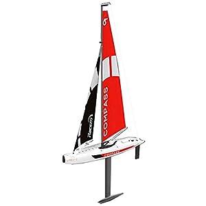 Unpowered Remote Control Segelboot 2.4G 4CH Simulation RC Boot Kompass Vormontierte Segelboot DIY Drahtlose Fernbedienung Spielzeug Weihnachten Geburtstagsgeschenk Für Kinder Und Erwachsene - 65 * 13,