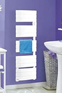 Cali-bain Radiateur Noirot sèche-serviettes/Larg : 500mm-H : 915mm-Epaiss : 120mm/Puiss : 1150W - Puiss Stat : 350W - Puiss Vent : 800W/Blanc/K178-4FPAJ