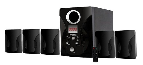 Krisons 5.1 Multimedia Speaker Without Bluetooth (Black)