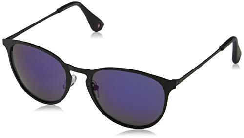 Sunoptic Unisex-Erwachsene Montana Sonnenbrille, Schwarz (Black/Revo Blue),