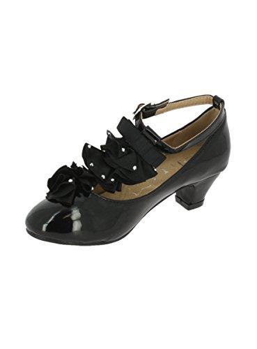 Chaussures à Talon Fille Noir Verni Mariage, Soirée, Cérémonie