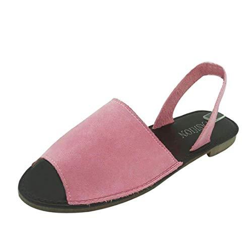 UOMOGO® Estive Donna Moda Sandali Comfort Toe Sandali Scarpe Camminare Piattaforma (Asia 36, Rosa 2019)