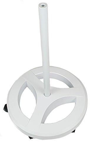 Preisvergleich Produktbild Komerci KML-FS3 Rollstativ Standfuß für Lupenleuchte Lupen- und Arbeitslampe,  rund,  6-Rollen Stativ,  extra schwer,  weiß