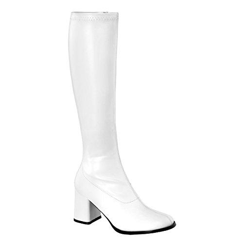Karneval Fasching Halloween Kostüm Schuhe, Größe:EU-35 / US-5 / UK-2 (Weiße Gogo-stiefel Größe 5)
