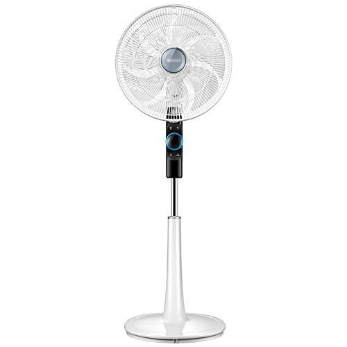 Elektro-Bodenventilator 16-Zoll-energieeffiziente Fernbedienung Ultra-Leise Home Air Circulation Fan, weiß