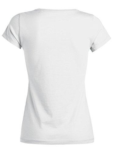 Maratus Damen T-Shirt Aus Bio-Baumwolle mit Rundhals Fair Wear Weiß