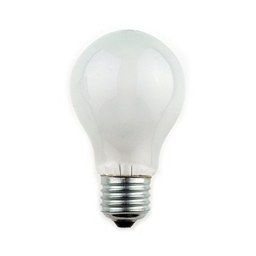 10 X 100 WATT PEARL SCREW CAP LIGHT BULBS, E27 EDISON 240V BY MAXIM